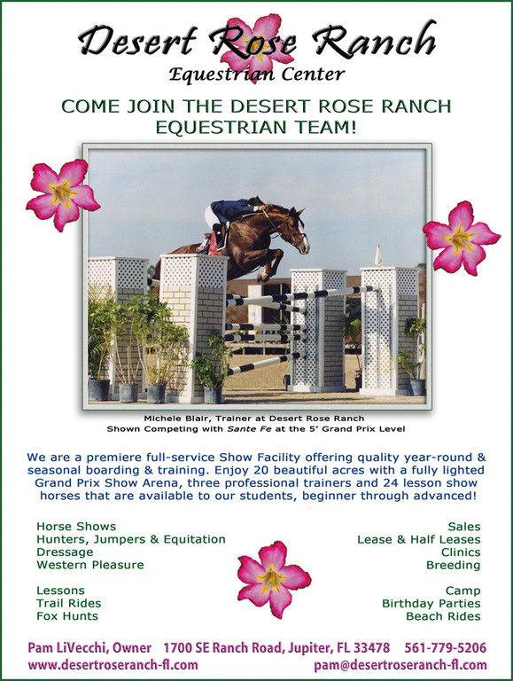 Desert Rose Ranch Hunter Jumper Trainer In Jupiter