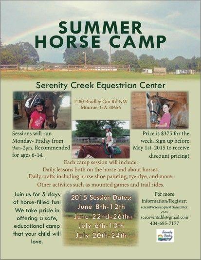 Serenity Creek Equestrian Center Horse Camp In Monroe