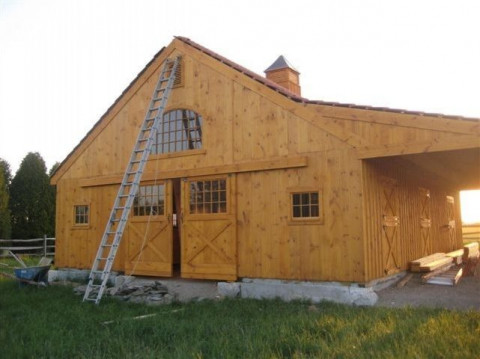 Barn Construction in Cross Hill, South Carolina (Laurens County)