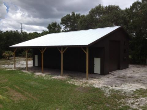 Barn Construction In Brooksville Florida Hernando County